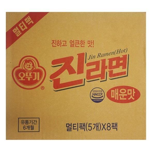 오뚜기진라면 매운맛 순한맛  40봉  멀티팩8개 한박스