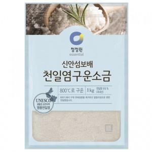 청정원 천일염 구운소금 1kg/대상 맛소금 굵은소금