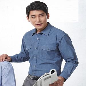 청남방 스트라이트남방 작업복 근무복 회사셔츠