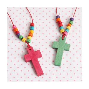 십자가 목걸이(색상)