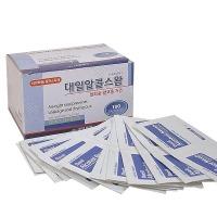 대일제약/알콜스왑100매/이스프로알콜70%/상처소독