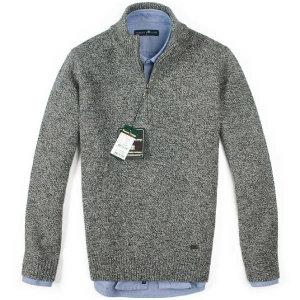 (현대Hmall) FOREST CAMP Lambswool Half-Zip Sweater/반집업 스웨터 FCSW6411-Grey연사