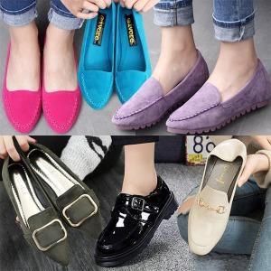 여성 플랫슈즈 여성신발 여성단화 슬립온 여자 신발