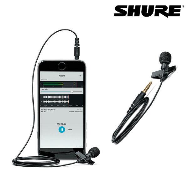 SHURE 슈어 MVL 스마트폰 핀마이크