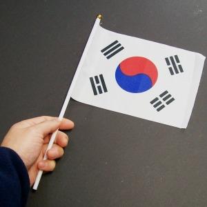 미니 손태극기 1개-수기 국기 천태극기 해외여행 용품