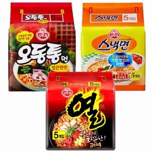 오뚜기 인기라면5입 3종 택1(열라면/스낵면/오동통)