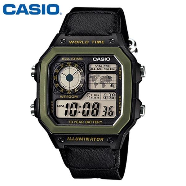 카시오 군인 학생시계 / 남성시계 / AE-1200WHB-1B
