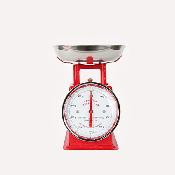덜튼 주방저울 1kg 원형 (레드)