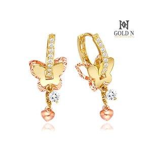 (골드앤(GoldN)) 18K 원더나비 귀걸이 (YG+RG)