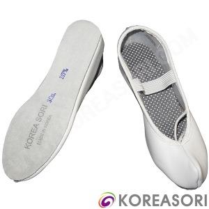 흰색코있는 흰색소가죽 3cm 바깥굽 공연신발 무용슈즈