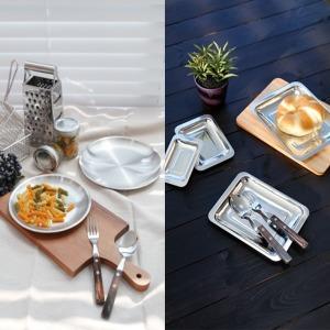 다용도 원형 스텐 접시 7가지 사이즈 (13cm~32cm)