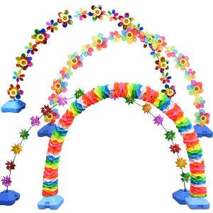 바람개비 아치 홀로그램 가랜드 오픈 매장 행사 장식