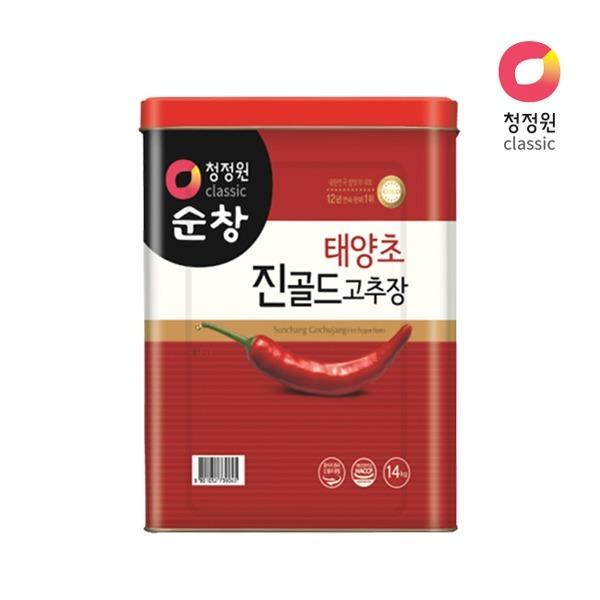 청정원 태양초 진골드고추장14kg