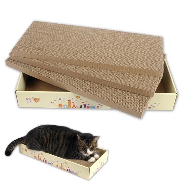 위드캣 알뜰 평판3p 스크레쳐 /고양이 스트레스해소