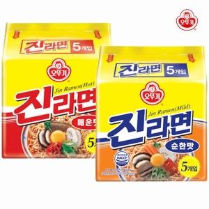 오뚜기 진라면 5입 2종 택1 (순한맛 / 매운맛)