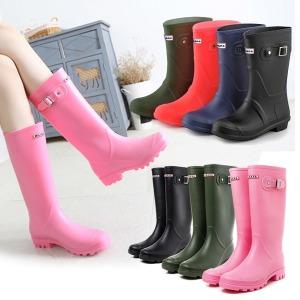 레인부츠 롱 미들 여성 패션장화 방수워커 장마 신발