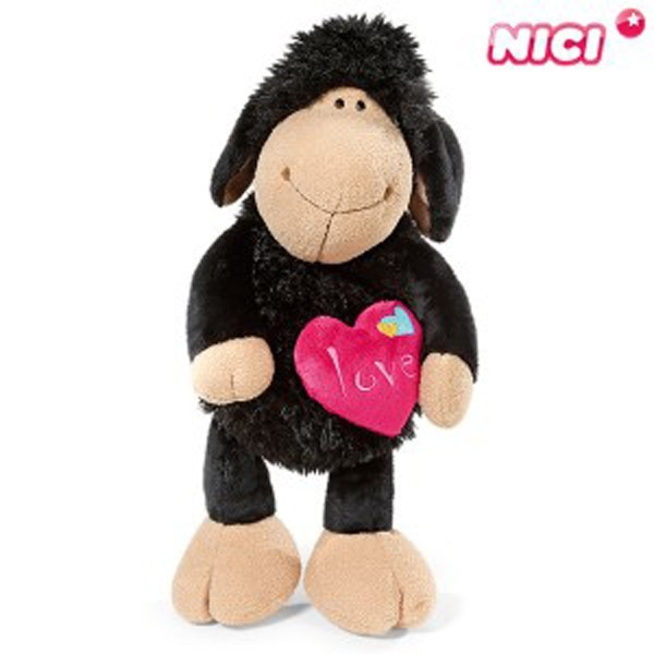 니키 졸리 하트 블랙 25cm 댕글링-40601/양인형