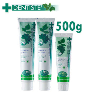(현대Hmall) DENTISTE  덴티스테 튜브형 치약 500g (200g 2개+100g 1개)
