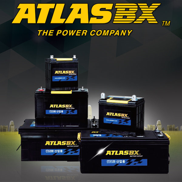 아트라스 산업용 ITX 12V-100Ah 배데리