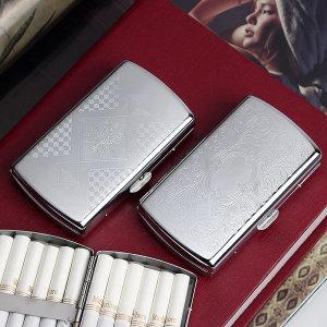 콤팩트 실버 담배케이스 (12개비) 원터치 담배곽