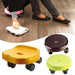 쓱쓱싹싹 바퀴의자/청소의자 이동의자 바퀴달린의자
