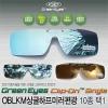 그린아이즈 클립온 싱글 미러편광렌즈-클립형선글라스