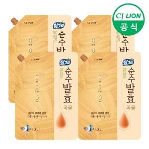 참그린 순수발효 곡물 1.2Lx4개 주방 세제 식물성