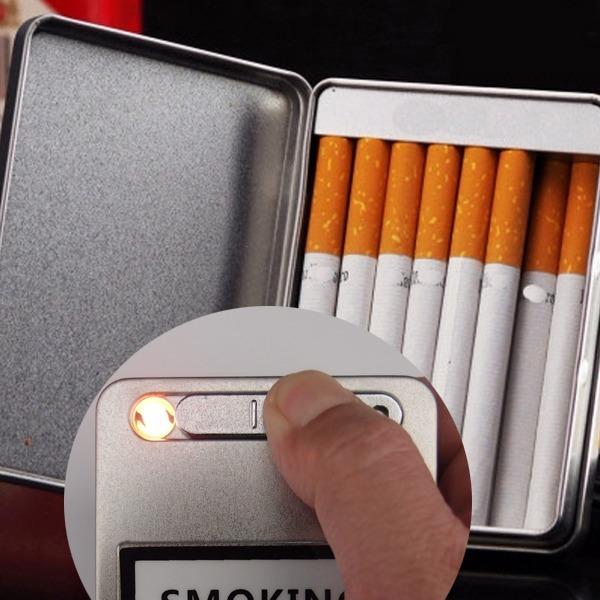 수퍼 슬림 usb 담배케이스 코일형 라이터/ 방풍/선택