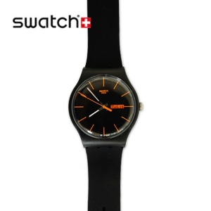 (SWATCH정품) New Gent DARK REBEL SUOB704 /스와치