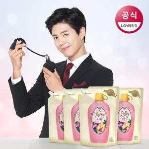 샤프란 향수컬렉션 고농축 섬유유연제 1.2L 4개(리필)
