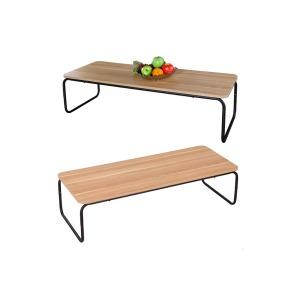 우드 스틸 커피테이블 좌식테이블 거실 보조 티테이블