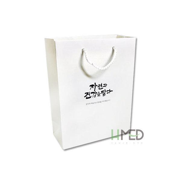 자연쇼핑백(화이트)100장/한약가방/한의원쇼핑백/선물