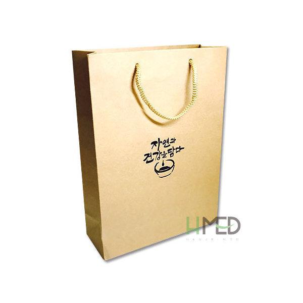 자연쇼핑백(크래프트)100장/한약가방/한의원쇼핑백