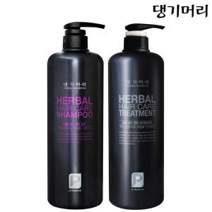 댕기머리 허벌 샴푸/트리트먼트 1000ml 한방/비듬샴푸