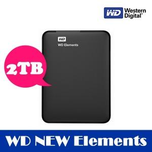 (파우치증정) WD NEW Elements Portable 2TB 외장하드