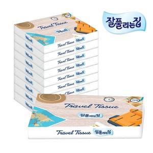 잘풀리는집 여행용티슈 70매 10팩/휴지/화장지/각티슈 - 상품 이미지