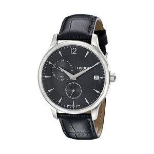 티쏘 Tissot남성 시계 Tissot Tradition GMT Black Di
