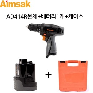 충전드릴 AD414R 본체+배터리1개+충전기없음