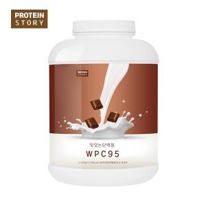 프로틴스토리 포대유청 맛있는단백질 WPC95 2kg 초코