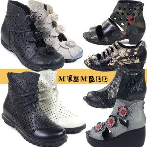 소가죽 여성앵클/샌들/단화로퍼/신발구두부츠/효도화