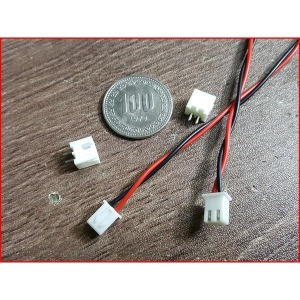 2핀 커넥터 케이블 간격-2.54mm 전선길이-250mm 1세트