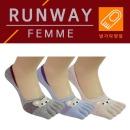 RW2_덧신 여성발가락 5켤레 패션 발가락양말 여자덧신