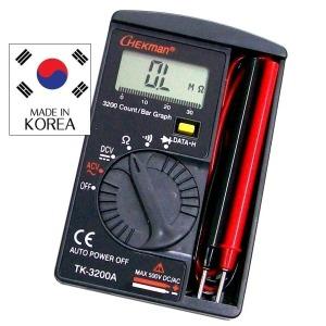 태광 3200 포켓 디지탈 테스터기-배터리 건전지 측정