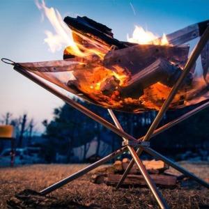 캠핑의꽃 캠프파이어 스탠드 / 화롯불 장작불 받침대
