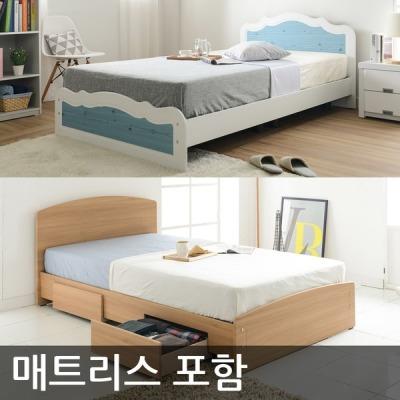 [파란들가구] 파란들 일반형 서랍형 침대 매트리스포함 ch