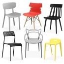 인테리어 의자 모음 플라스틱 화장대 식탁 카페 책상