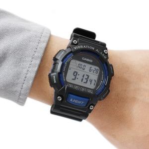 카시오 W-736H-2A 진동알람 군용 전자 스포츠손목시계