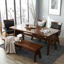 쉐라톤 원목 6식탁세트(의자+벤치)/원목식탁/식탁벤치