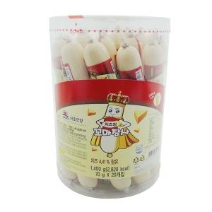 사조)치즈킹 꼬마장사 1400g(70gx20개) (1박스-6통)