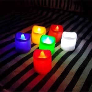 LED 양초캔들 1P 티라이트 촛불 이벤트 전자 무드등
